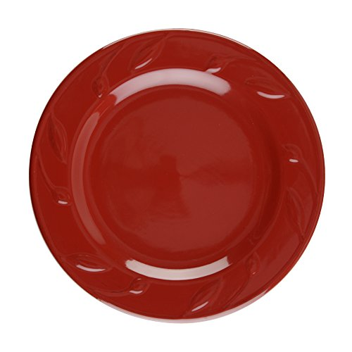 Signature Housewares Sorrento Collection Set of 4 Salad Plates, 8-Inch, Ruby