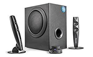 (Bluetooth Version) - wavemaster STAX BT - 2.1 Bluetooth Stereo Speaker System/Set (46 Watt) for TV, Gaming, Smartphone, PC, Tablet/UK Version (66214)