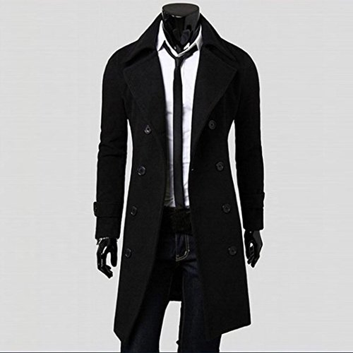 jackets Outwear Black Coat Angle Breasted Parka Slim Jacket Anglewolf Winter Men Down Trench Long Stylish Double gZ6rZ85