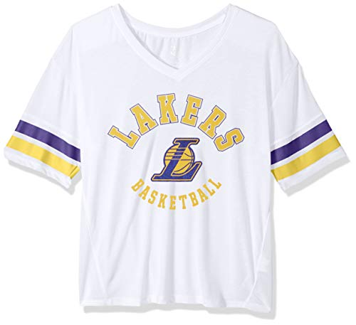 Outerstuff NBA NBA Juniors Los Angeles Lakers Mesh Blocker Short Sleeve Top, White, - Junior Blocker