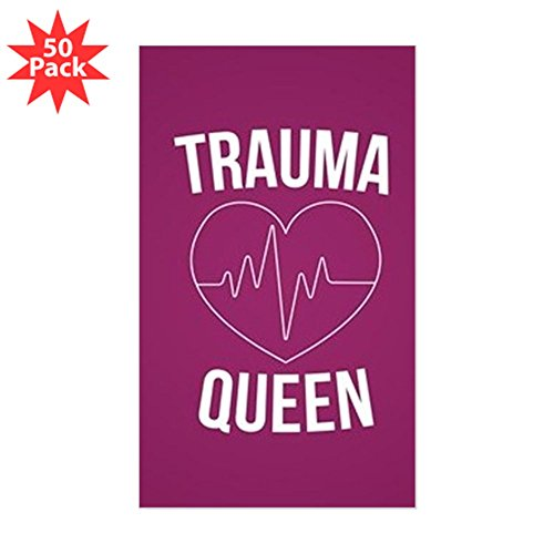 CafePress - Trauma Queen - Sticker (Rectangle 50 pk) by CafePress