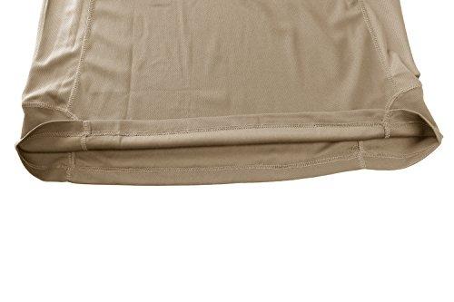 TACVASEN Homme Outdoor T-Shirt Respirant Randonnée décontractée Chemise de Sport avec Poche zippée 7