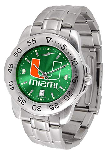 Miami Hurricanes Stainless Steel Men