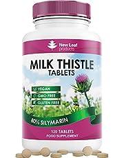 Mjölktistel Tabletter – Innehåller 80% Silymarin – Leverstöd - 4 Månaders Kosttillskott Mariatistel 2000 mg – Vegansk GMO-fri Glutenfri tillverkad i Storbritannien (120 tabletter)