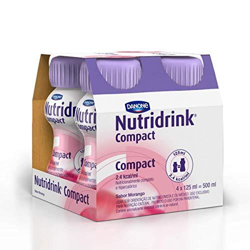 Nutridrink Compact Morango Danone Nutricia com 4 unidades de 125ml