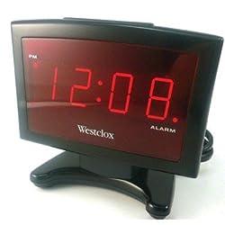 Westclox Alarm Clock Red 0.9 Red Led Display