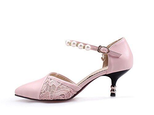 Sandali Donna 1TO9 Pink Rosa Sconosciuto con 35 Zeppa 5ngwxq1IO