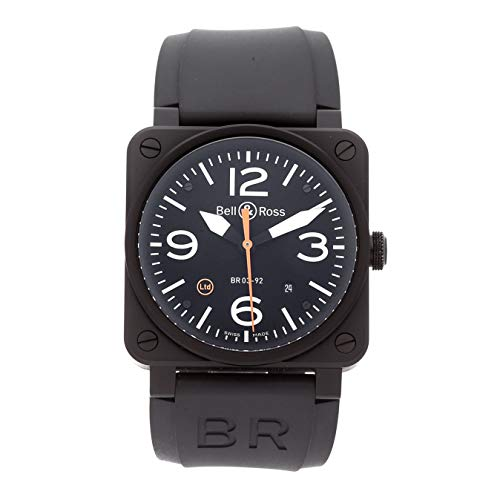 Bell & Ross BR-03-92 Mechanical (Automatic) Black Dial Mens Watch BR0392-O-CA (Certified Pre-Owned)