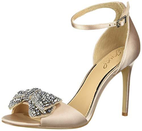 (Badgley Mischka Jewel Women's ZELINA Heeled Sandal Champagne Satin 5.5 M US)