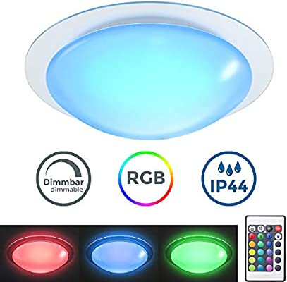 Plafón LED regulable I Lámpara de techo LED multicolor I 16 ...