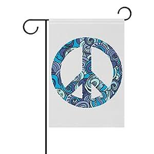 Doble cara símbolo de la Paz símbolo de la Paz Folk poliéster casa jardín bandera Banner 12x 18/28x 40pulgadas para todo tipo de clima para boda fiesta
