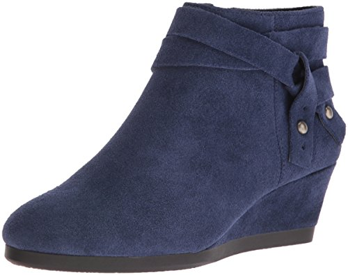Nine West Women's Lina Suede Boot - Blue - 9.5 B(M) US