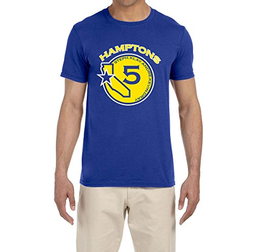 Deetz Shirts BLUE Golden State Hamptons Five Logo T-Shirt ADULT 2XL