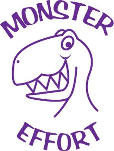 """Monster effort"" Self inking teacher reward stamp X12142 Xclamations"