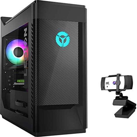 Lenovo Legion Tower 5 Gaming Desktop, 10th Gen Intel Core i5-10400F Processor up to 4.30GHz, GeForce GTX 1650 Super Graphics, 64GB RAM, 1TB PCIe SSD + 2TB HDD, RGB Light, Win10 Home, KKE 1080P Webcam
