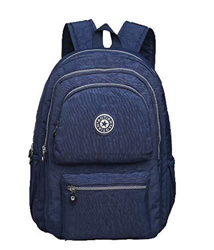 AmoonyFashion spalla blu BUTBS182337 a Shopping cerniera Shopping con Nylon Borse Bags nero UqUYwB