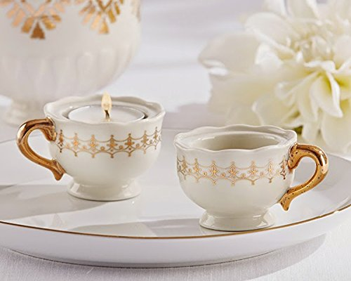 72 Classic Gold Teacups Tealight Holders by Kate Aspen