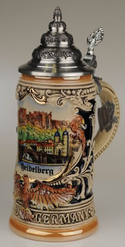 Beer stein by King - Heidelberg City Skyline Relief German Beer Stein 0.4l Limited Edition by KING