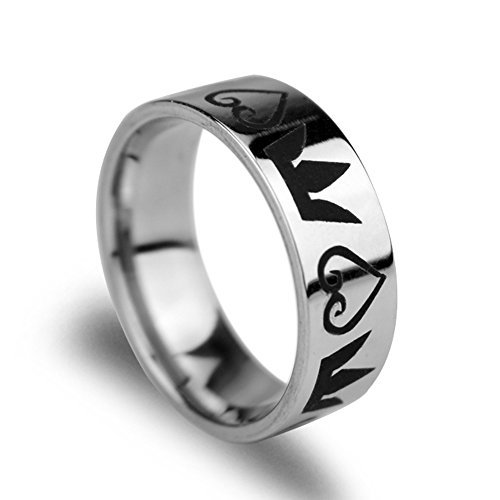 Magical Jewelry Gift Co. Kingdom hearts & Crowns Symbol Wedding Band Ring - Silver (0.4 Oz) (9)