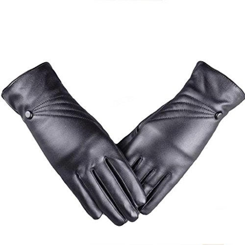 Leather Winter Cashmere Gloves goalB Luxurious Women Girl Winter Super Warm Black