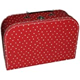 Kinderkoffer Groß rot weiße Punkte Puppenkoffer Koffer Kinder Puppen Autokoffer