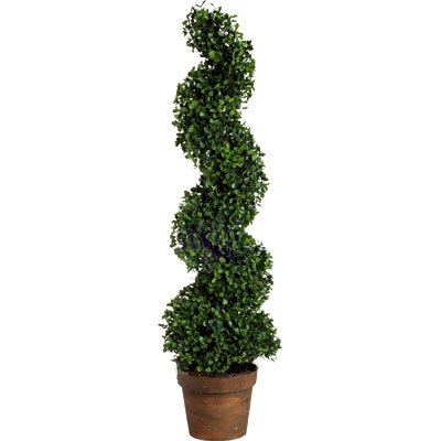 A&B Home Artificial Boxwood Spiral Tree Plant, 35-Inch ()