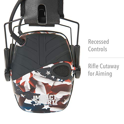Howard Leight by Honeywell Impact Sport Sound Amplification Electronic Shooting Earmuff, ONE NATION
