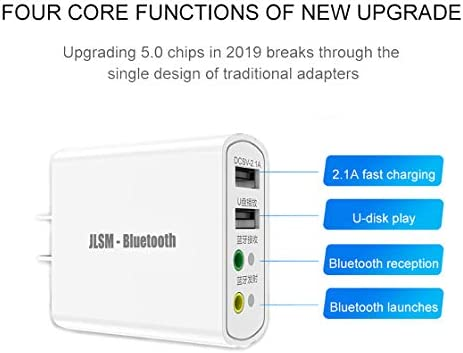 Bluetooth Wireless Audio Adapter 5.0 Transmitter Receiver 4 in 1 Wireless 3.5 mm Suitable for Home Music Playback System.