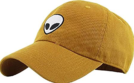 Alien Dad Hat Baseball Cap Unconstructed