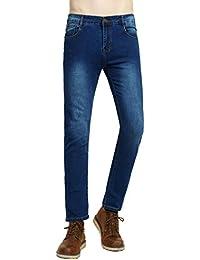 Men's Skinny Stretch Elastic Jeans Slim Fit Comfy Fashionable Pants