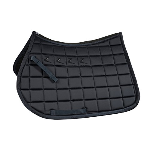 Horze Quintus All Purpose Saddle Pad with Quick Dry Lining & Anti Slip Silicone for Saddle Dark Navy Pony All Purpose Pony Saddle Pad