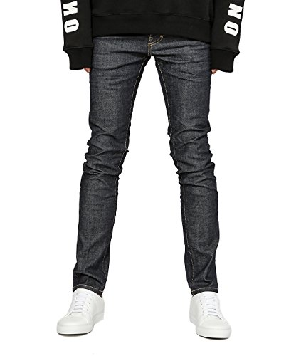 Wiberlux DSquared2 Men's Metal Leaf Logo Patch Contrast Stitch Cool Guy Fit Jeans 44 (Acne Jeans Skinny Jeans)