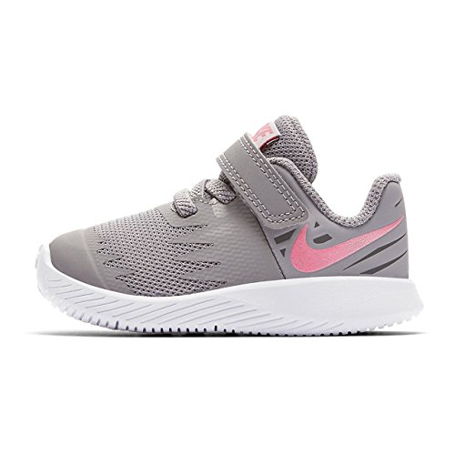 Nike Star Runner (TDV) 907256 002 Mädchen Klettverschluss/Slipper Halbschuh Grau (Grau)
