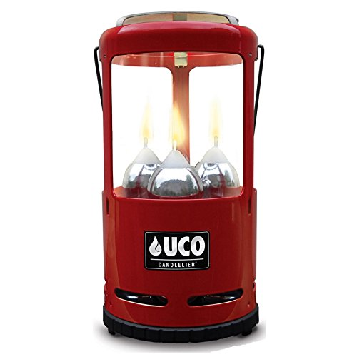 UCO Candlelier Deluxe Candle Lantern, Red by UCO