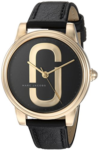 Marc Jacobs Women's 'Corie' Quartz Stainless Steel and Leather Casual Watch, Color:Black (Model: - Watches Marc Black Jacobs Women