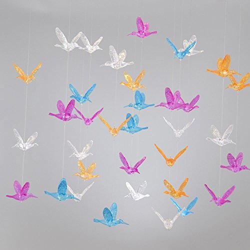 Laugh Cat Creative DIY Flying Bird Decorative Hanging Ornaments For Ceiling Light Kindergarten Shopping Mall Home Window Decoration (10, Colorful (Hanging Bird Decoration)