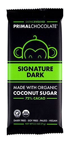 - Evolved Chocolate, Organic Chocolate, Signature Dark, 72% Cacao | Vegan, Gluten-Free, Paleo, Soy-Free, made with Coconut Sugar, Fair Trade | 2.5 oz each (8 count)