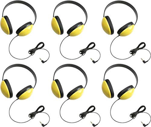 Califone 2800-YL Listening First Headphones in Yellow (Set of 6)