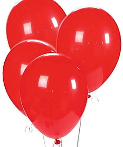 Custom, Fun & Cool {Big Large Size 12'' Inch} 1500 Bulk Pack of Helium & Air Latex Rubber Balloons w/ Modern Simple Celebration Party Special Event Decor Design [In Bright Red] by mySimple Products