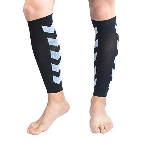 Faladi High Performance Graduated Calf Compression Sleeves for Men& Women (1 Pair)-Help Relief Shin Splints, Calf Strain and Reduce Fatigue -Great for Running,Cycling,Maternity,Travel&More (L/XL) by Faladi (Image #7)