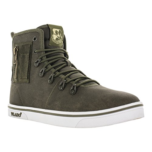 Vlado Footwear Mens Maximus Ii Oliva Denim Denim Sneaker Boot Us 8.5