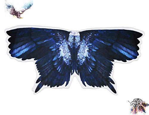 Kids Bird Wings Eagle Costumes for Boys Girls Animal Fancy Dress-Up Feathered Cosplay Party Favors -