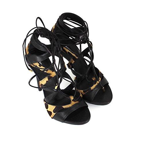 Sandalia 2018 de Dsquared2 Up Me Tie Verano Primavera Zapatos Mujer Negra ZEwWBgxqf