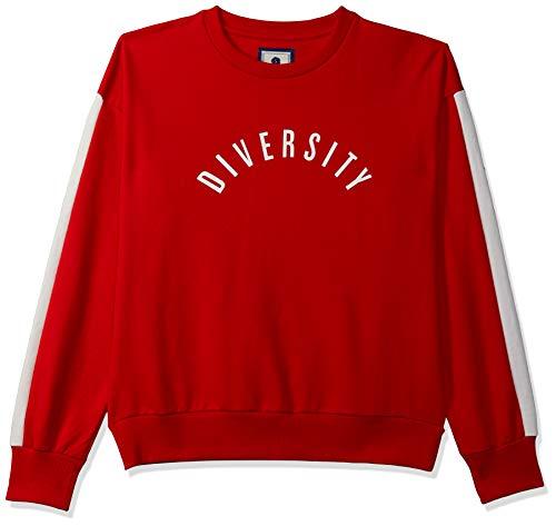 Amazon Brand – Symbol Women's Graphic Regular Fit Long Sleeve Terry Sweatshirt Warm Up Jacket