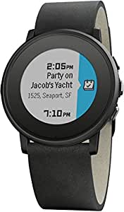 "Pebble Time Round - Smartwatch  (20mm, 1.25"", Bluetooth, Li-ion), color negro"