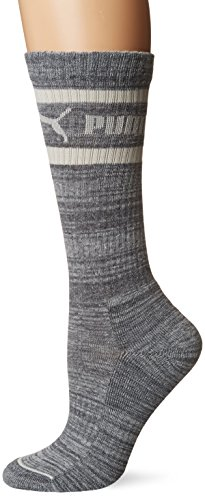 Puma Women's 1 Pack Tube Socks, Gray, 9-11 (Puma Socks Women Cushion)