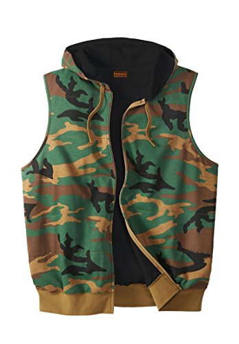 Boulder Creek Men's Big & Tall Thermal Lined Fleece Vest, Camo Big-3Xl