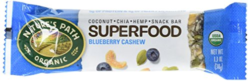 (Nature's Path Organic Qi'a Gluten-Free Superfood Snack Bar, Blueberry Cashew Pumpkin Seed, 1.3 ounce bar,12 count)