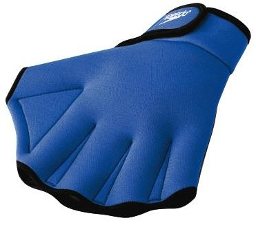 Speedo Aqua Fit Swim Training Gloves, Royal, - Equipment Swimming For