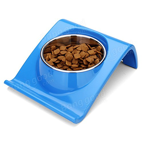 Bazaar DB-65 Dog Cat Z Shape Stainless Steel Food Bowl Pet Feeder by Big Bazaar